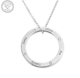 Personalised Diamond Family Ring Necklace