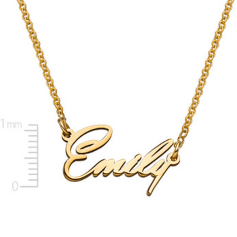 Personalised 18ct Gold Plating Tiny Name Necklace