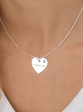 Personalised Swarovski Heart Necklace