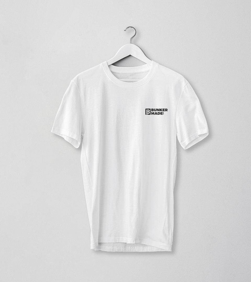 bunker made white shirt