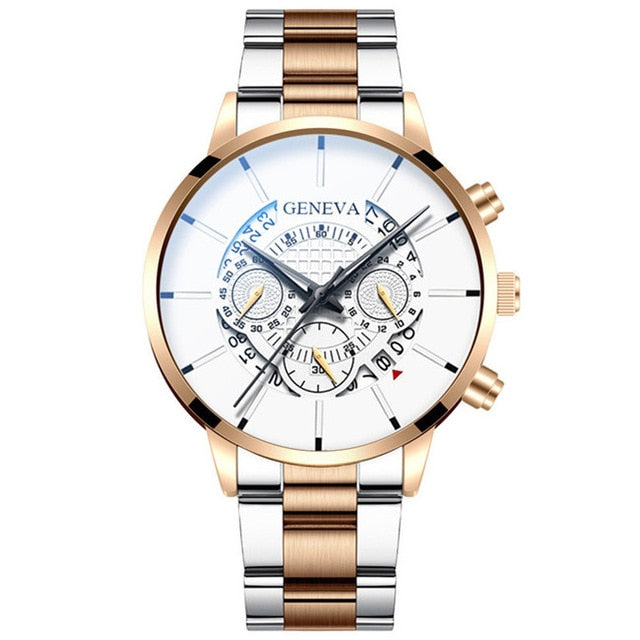 Fashion Men Stainless Steel Luxury Watch.
