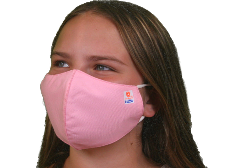 Kid Size - Pink Antibacterial Cloth Sterilized Face Mask