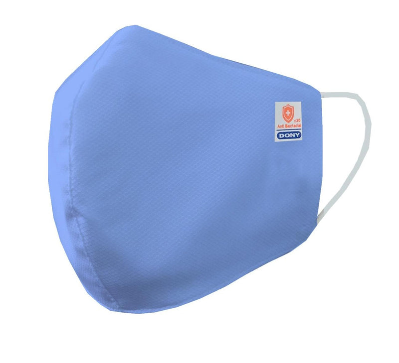 Kid's Size - Blue Antibacterial Cloth Sterilized Face Mask