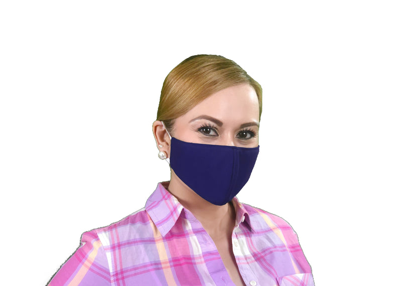 Navy Blue Adult Face Mask - Free Shipping