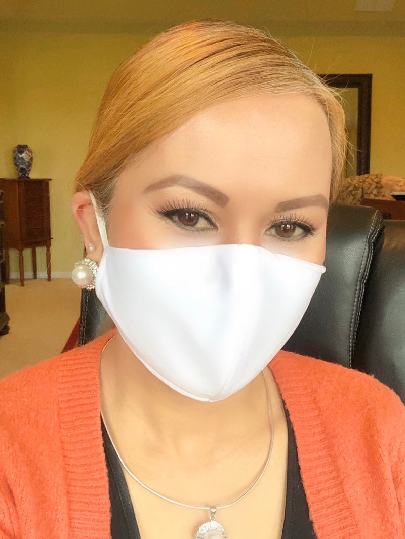 White Adult Face Mask - Free Shipping - FacemasksNJ.com