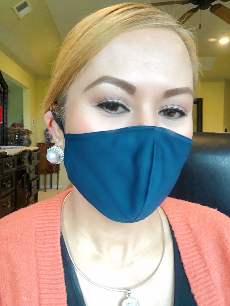 Navy Blue Adult Face Mask - Free Shipping - FacemasksNJ.com