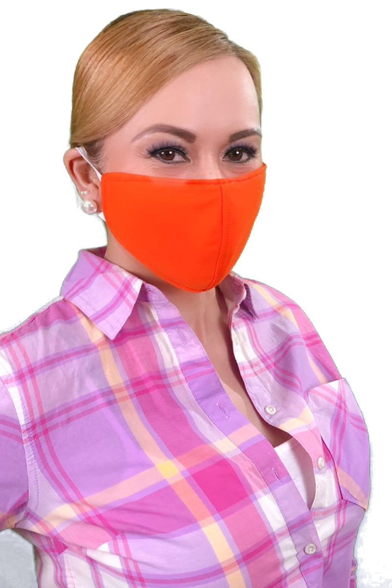 Orange Adult Face Mask - Free Shipping