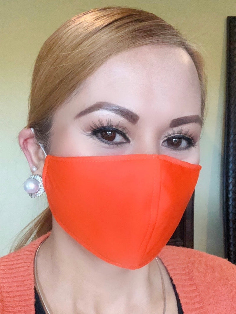 Orange Adult Face Mask - Free Shipping - FacemasksNJ.com