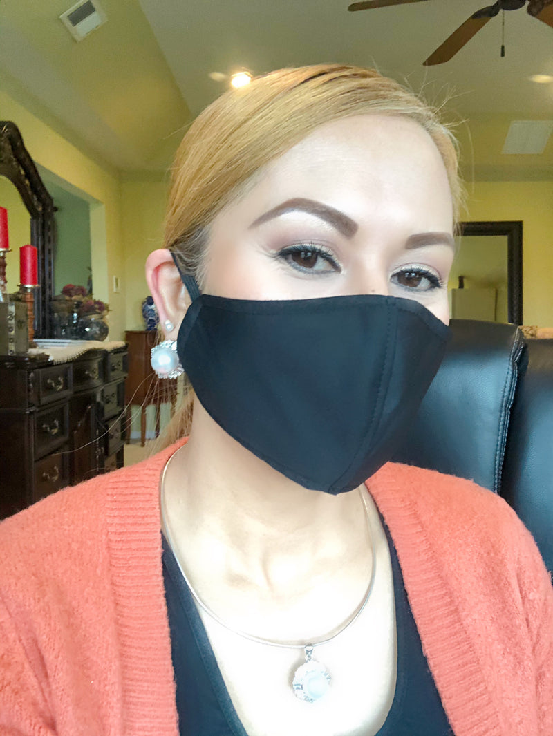 Black - Adult Face Mask - Free Shipping - FacemasksNJ.com