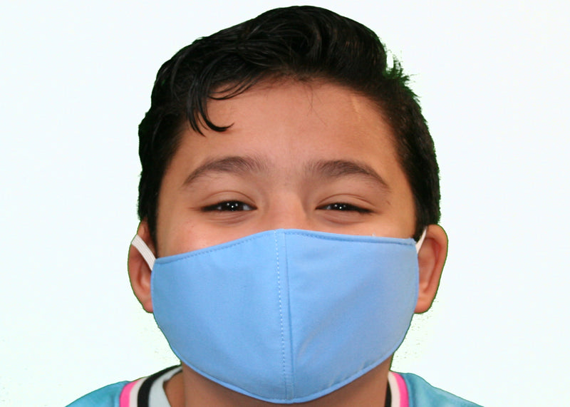 Sky Blue - Kid's Face Mask Free Shipping - FacemasksNJ.com