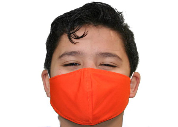 Orange - Kid's Face Mask Free Shipping - FacemasksNJ.com