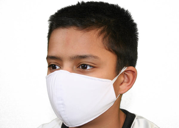 White - Kid's Face Mask Free Shipping - FacemasksNJ.com