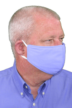 Sky Blue Adult Face Mask - Free Shipping