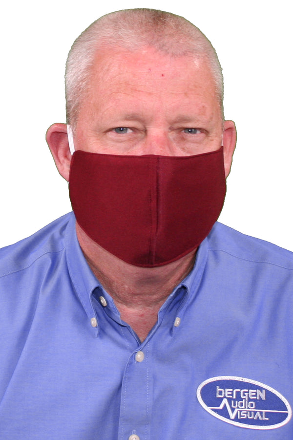 Burgundy Adult Face Mask - Free Shipping