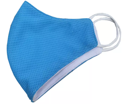 Adult Blue Vimask - Antibacterial Cloth Face Mask - Very Comfortable