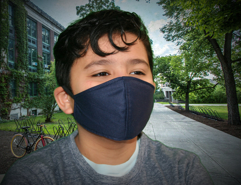Navy Blue Kid's Face Mask - FacemasksNJ.com