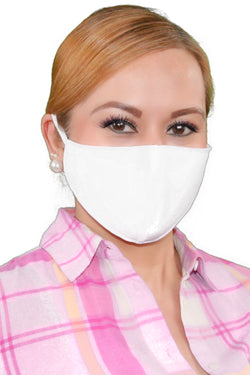 White Adult Face Mask - Free Shipping