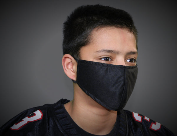 Black - Kid's Face Mask - Free Shipping - FacemasksNJ.com