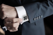 Load image into Gallery viewer, B&W Checkered Cufflinks