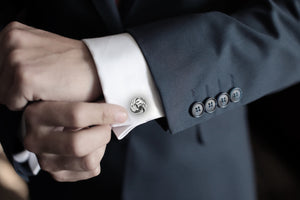 Silver Toned Knot Shaped Cufflinks