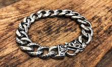 Load image into Gallery viewer, Stainless Steel Silver Plated Bracelet - Snake Skin Elements