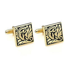 Load image into Gallery viewer, Elegant leaf patterned cufflinks