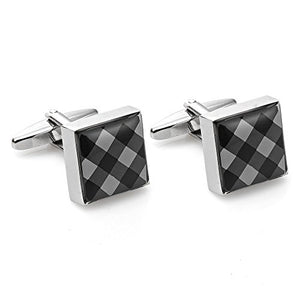 B&W Checkered Cufflinks