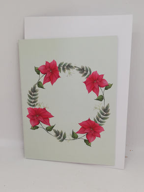 Christmas poinsettia floral cards