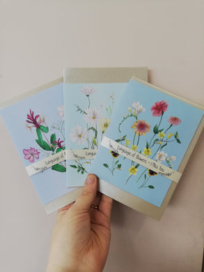 Language of Flowers cards