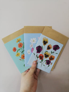 Flower seed cards- Assorted