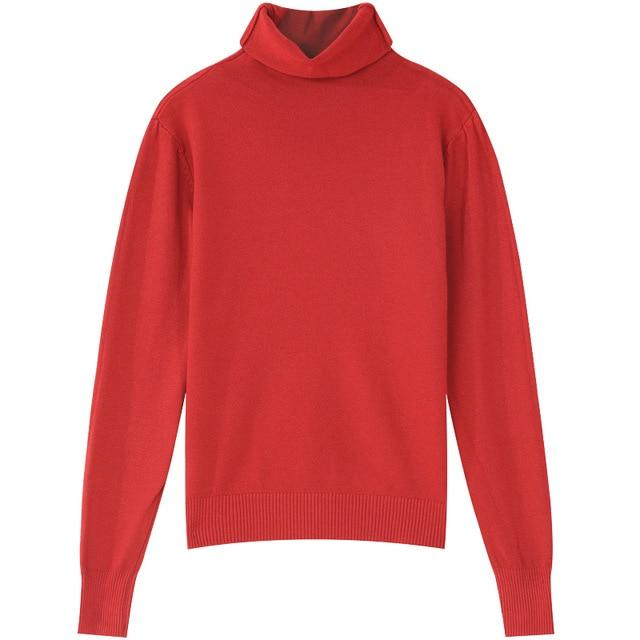 SAM'S TREE Multicolor Solid Minimalist Style Casual Knit Pullover Sweaters Women 2019 Winter Pure Long Sleeve Loose Female Top