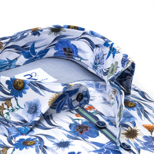 Load image into Gallery viewer, R2 Amsterdam - Floral on Blue Shirt