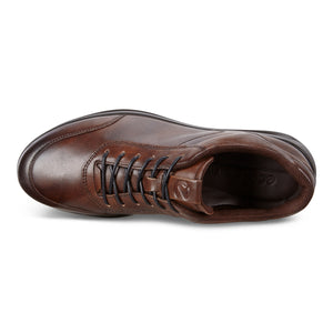 ECCO Aquet M Casual Leather Lace Up - Cocoa Brown