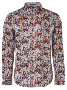 No Excess L/S Print Shirt Off White/Multi Floral