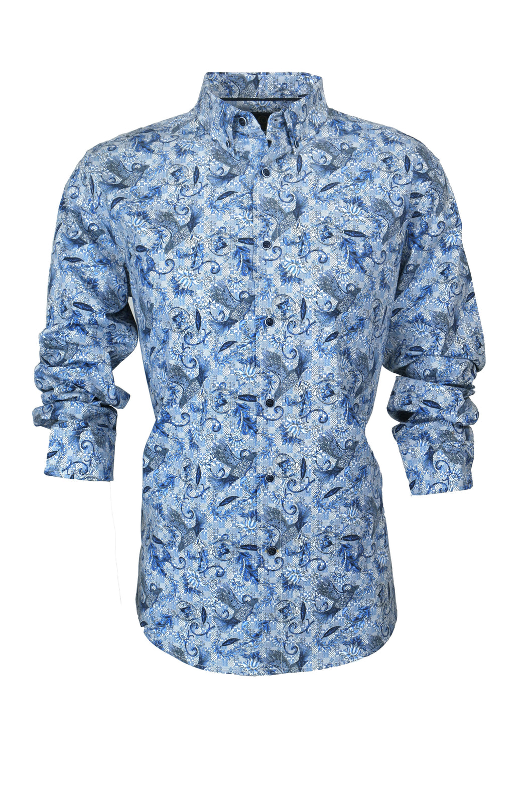 Cutler & Co Blake L/S Shirt - Angel Blue