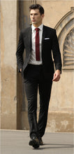 Load image into Gallery viewer, Savile Row David/Jesse Suit -SSA8- Black