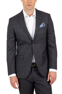 Cambridge FCJ340 Suit - Charcoal Window Pane Check