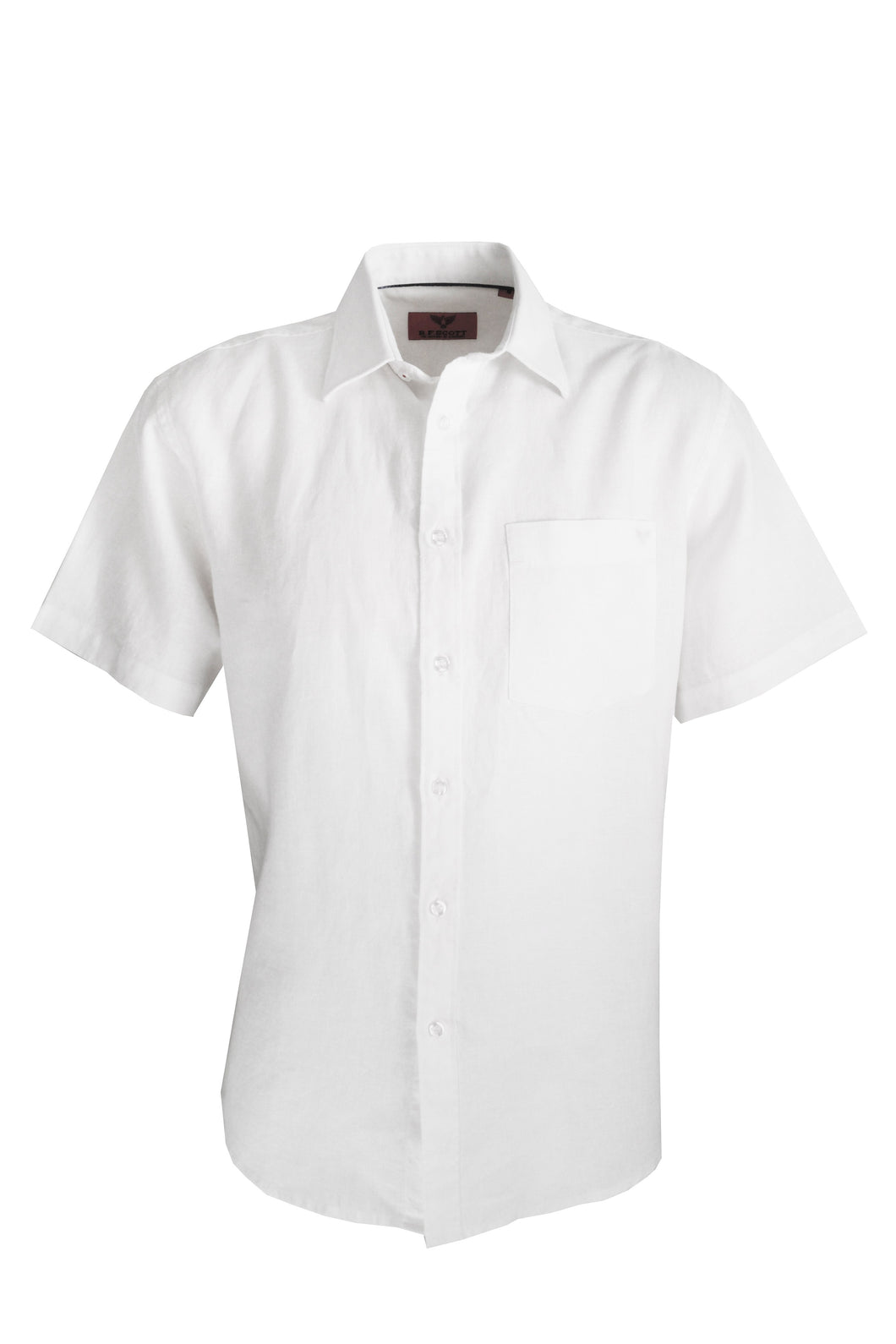 SR23574 R.F. Scott - Fields S/S Linen Shirt - White - 100