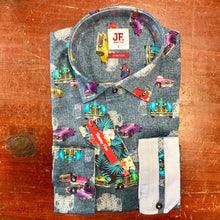 Load image into Gallery viewer, Jimmy Fox Car Print Cotton Stretch Shirt