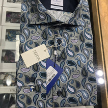 Load image into Gallery viewer, R2 Amsterdam - Blue/Green Paisley Shirt