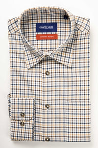 Country Look Romney Shirt - Beige Check