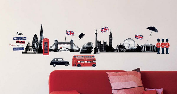 "STICKERS LONDON : THE "" LONDON TOUCH "" TO PERSONALIZE YOUR DECORATION"
