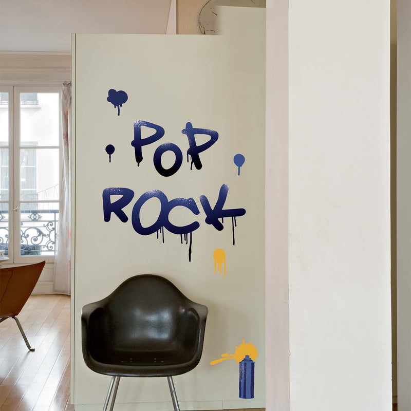Sticker mural Graffiti Pop Rock