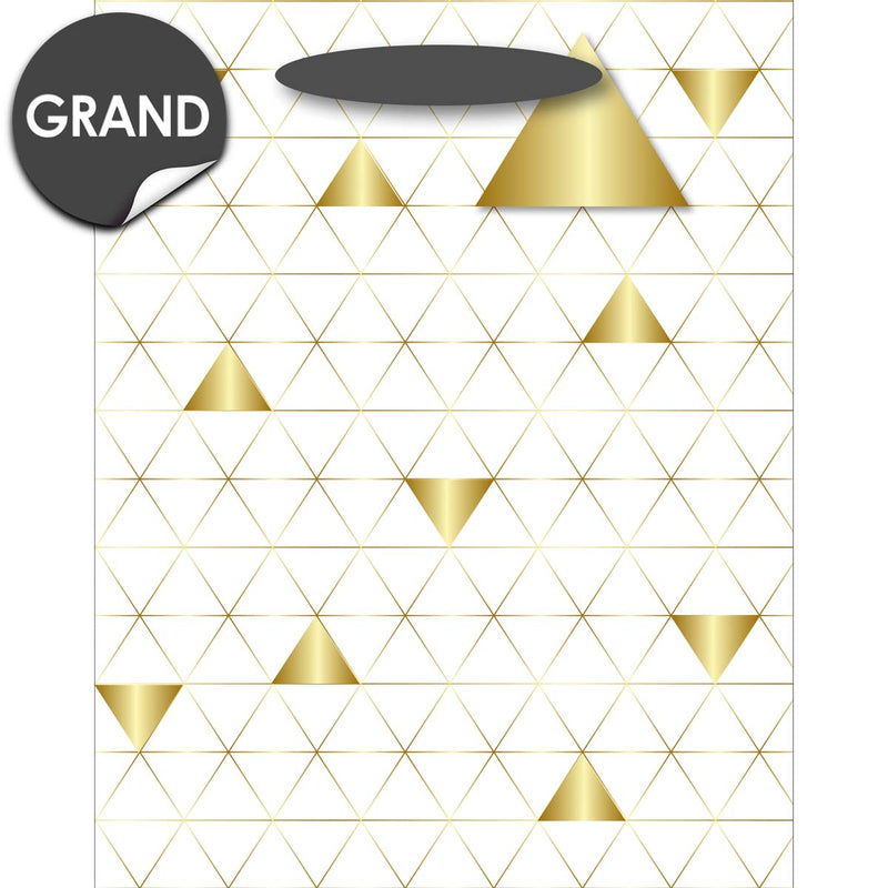 Sac Cadeau Grand format Triangles d'or