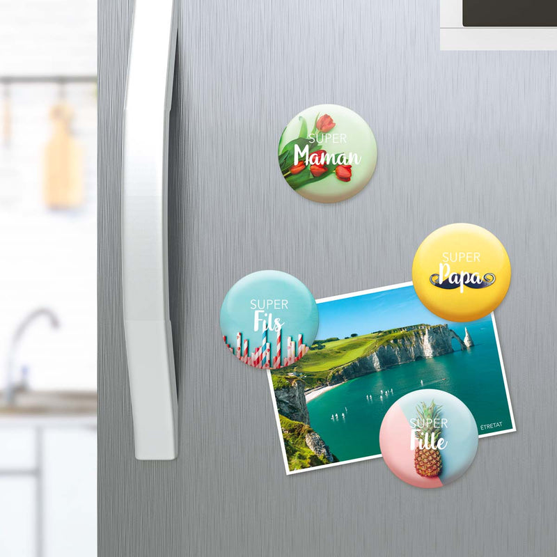 Lot de 4 magnets Famille Géniale