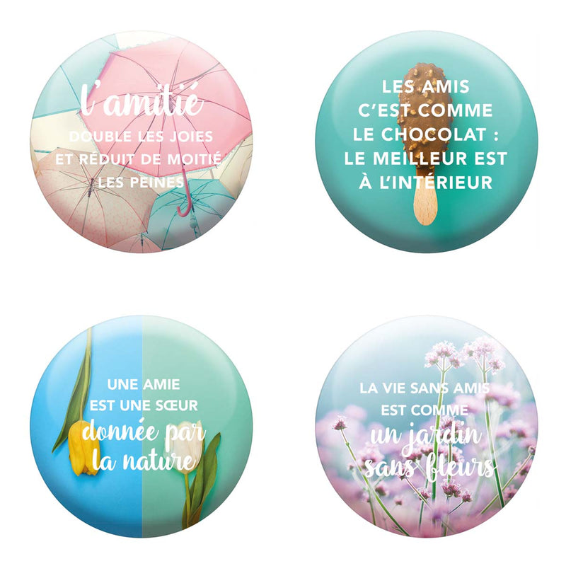 Lot de 4 magnets Amitié