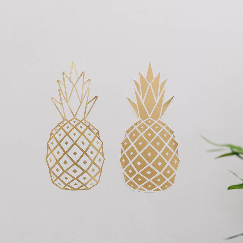 Sticker mural Ananas en Or