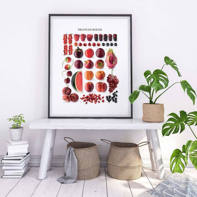 Affiche Les fruits en rouge
