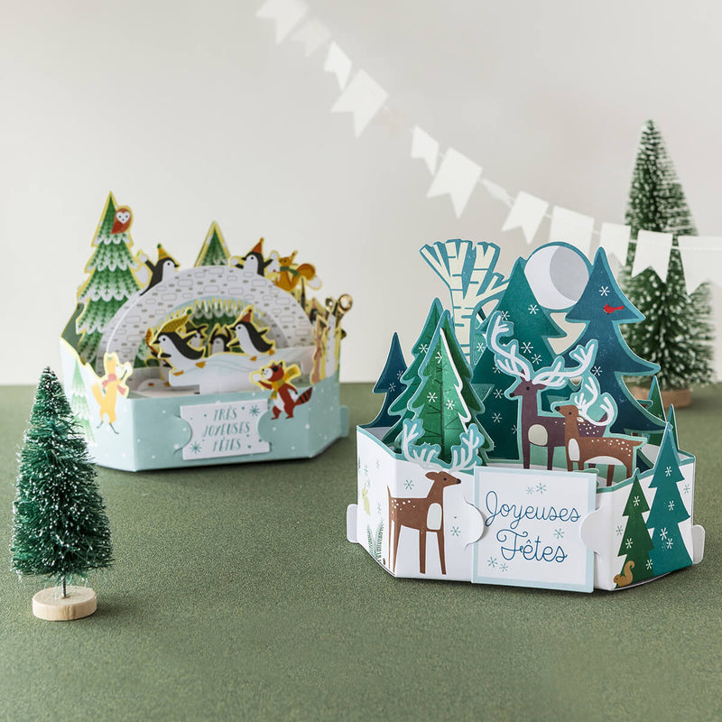 Carte de voeux Noël Pop up 3D - Anges