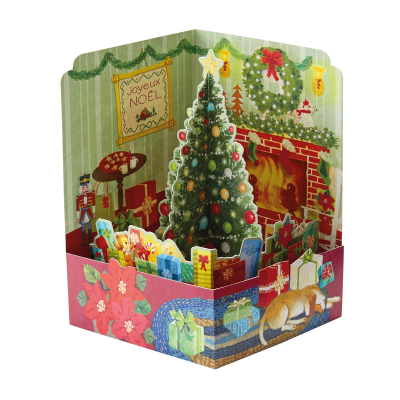 Carte de voeux Noël Pop up 3D - Ambiance de Noël